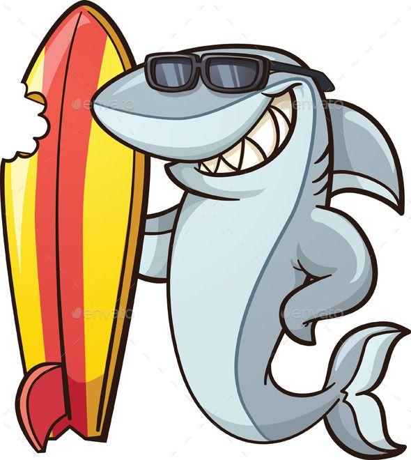 Cartoon shark with.