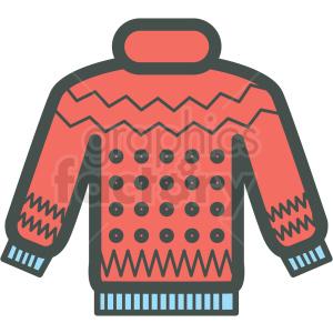Winter sweater vector icon