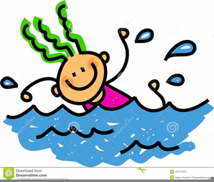 Cartoon swimmers clipart.