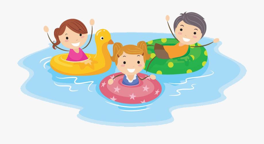 Swimming pool cartoon.