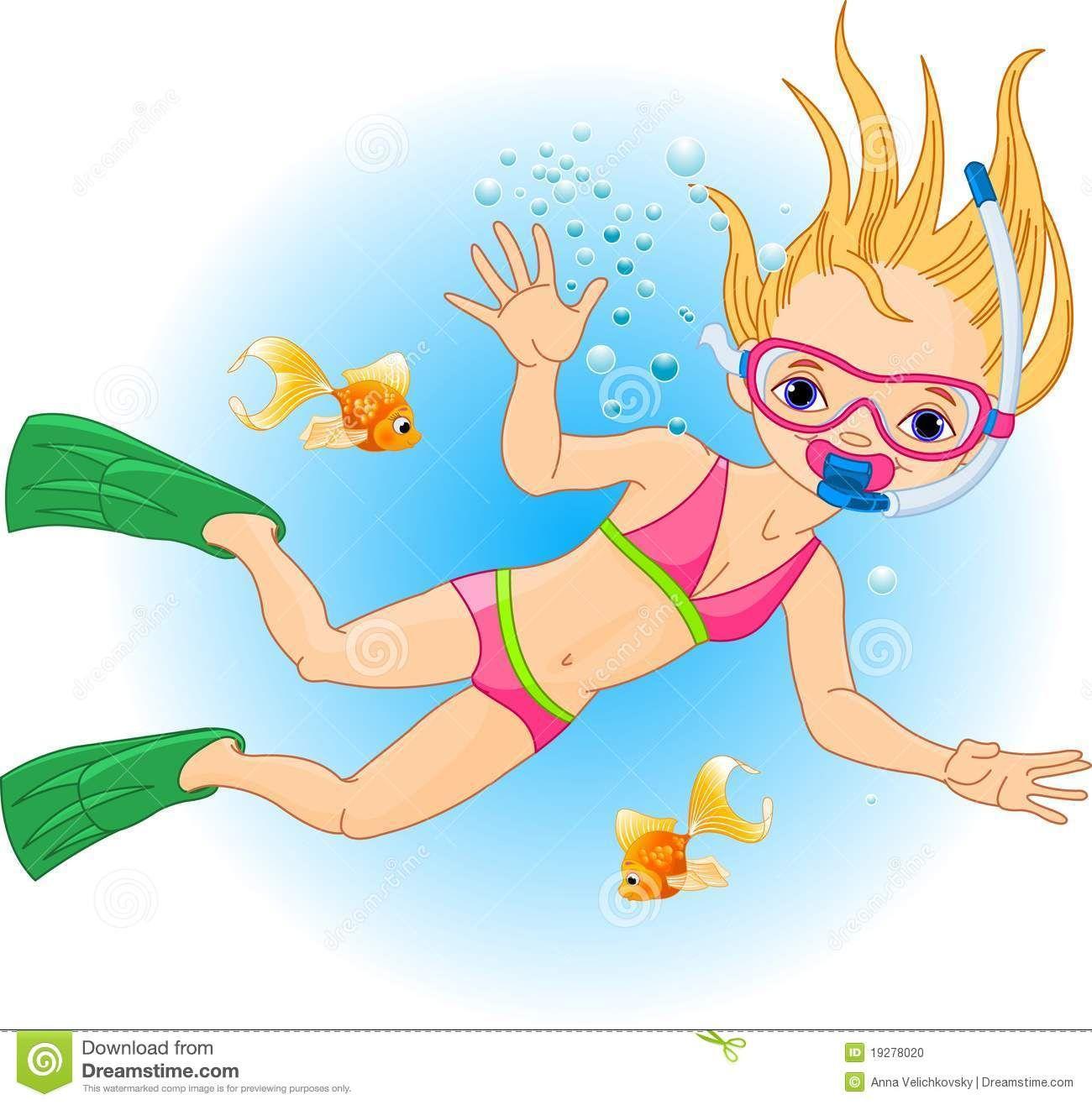 Swimming clipart girl.