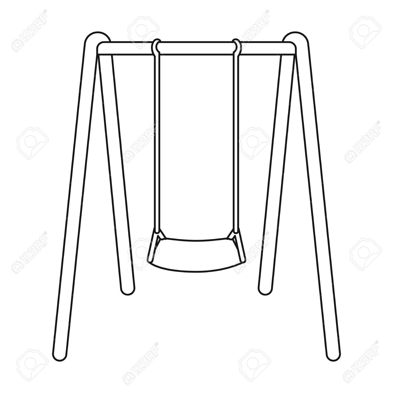 Swing Clipart Black And White Hd