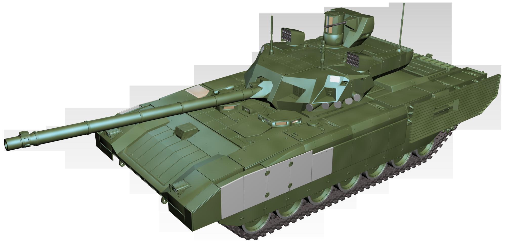 Armata tank perspective.