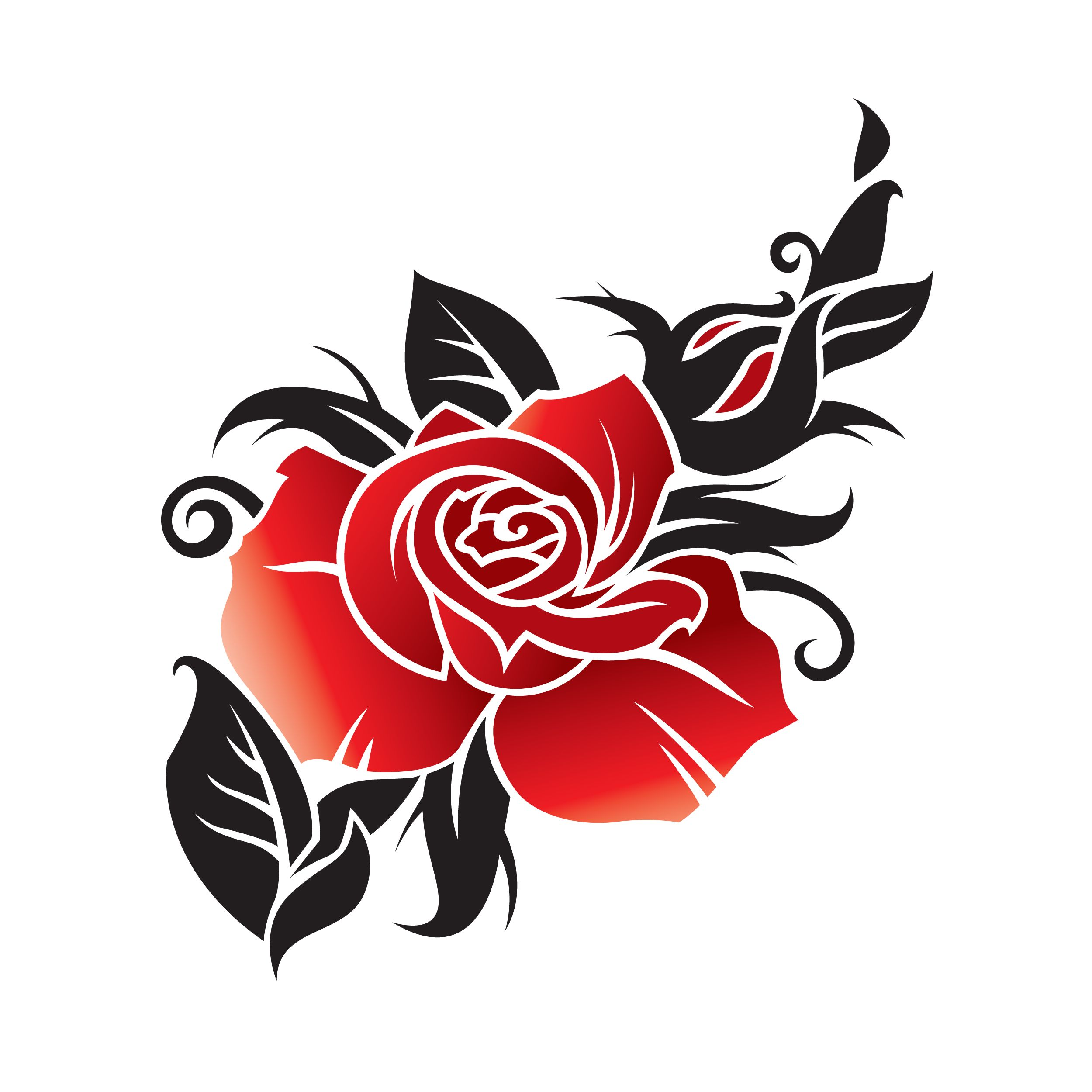 Rose tattoo clipart best.