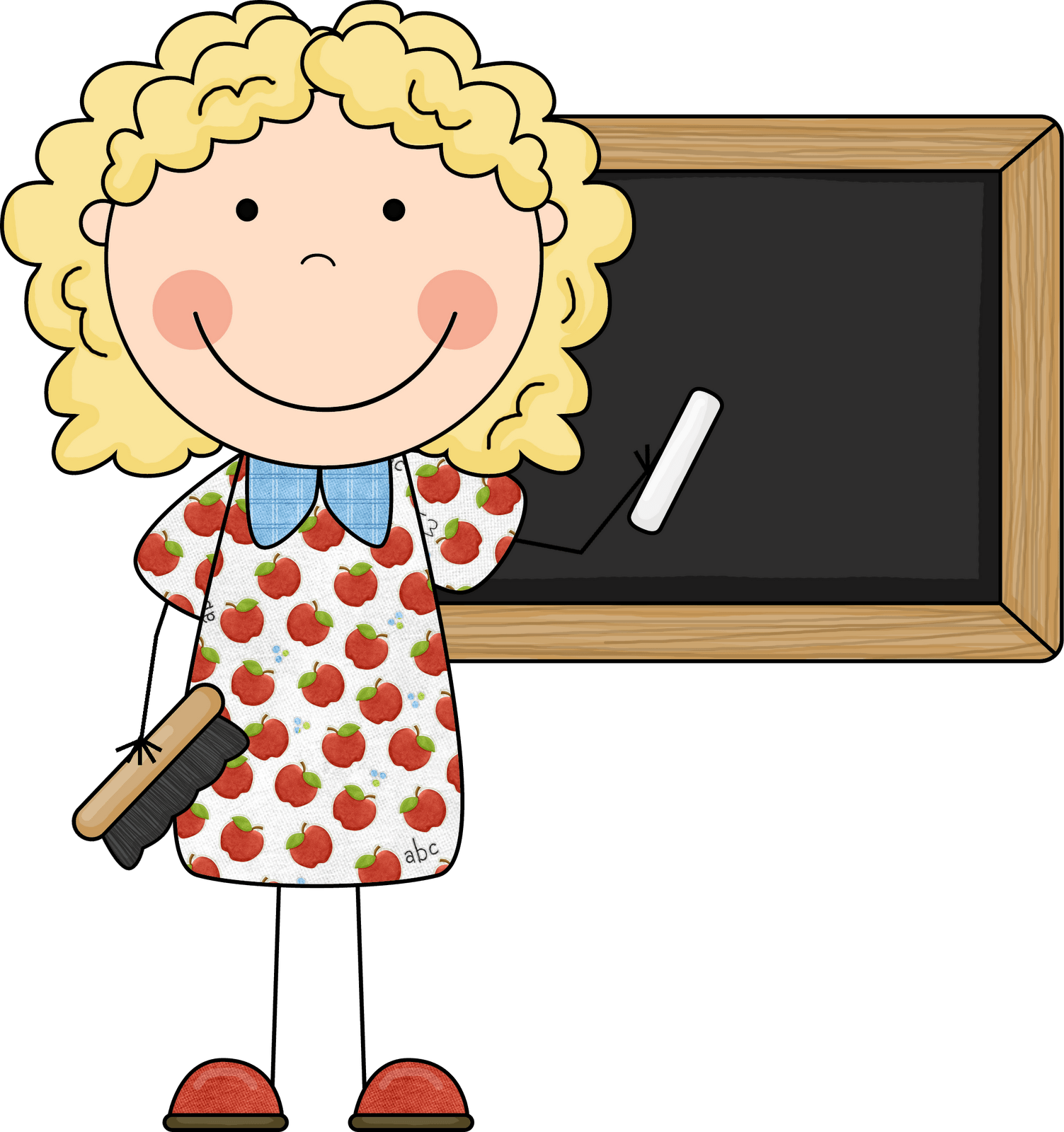 Cartoon teacher clipart.