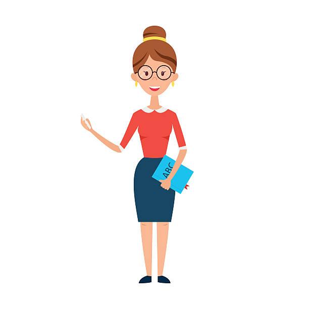 Girl teacher clipart.