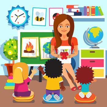 Preschool kindergarten teacher.