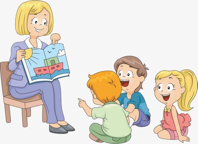 Children listen stories.