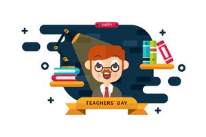 Teacher free vector.