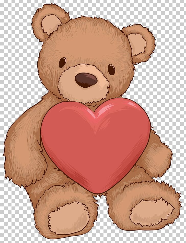 Teddy Bear Heart PNG, Clipart, Bear, Brown Bear, Carnivoran