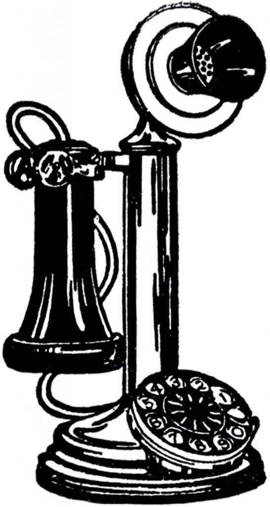 7 Vintage Telephone Images