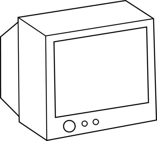 Simple Television Coloring Page