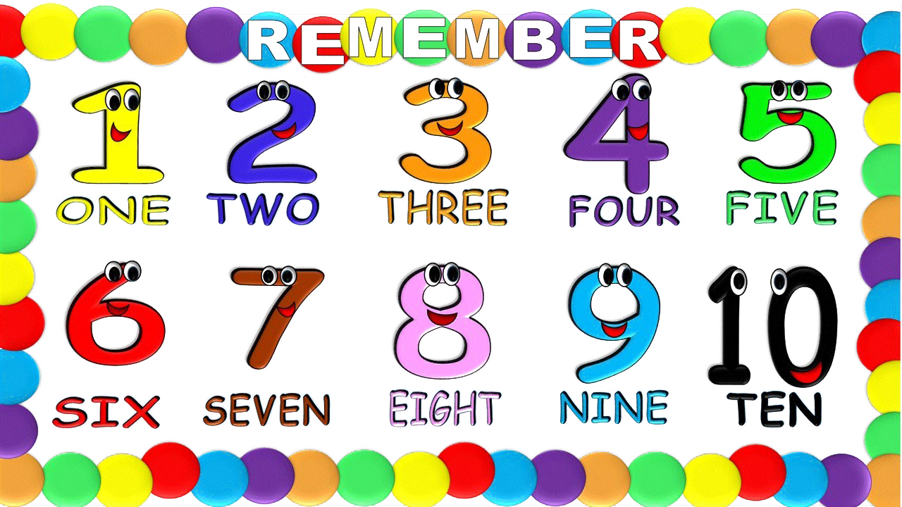 Numbers png transparent.