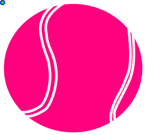 Bright pink tennis.
