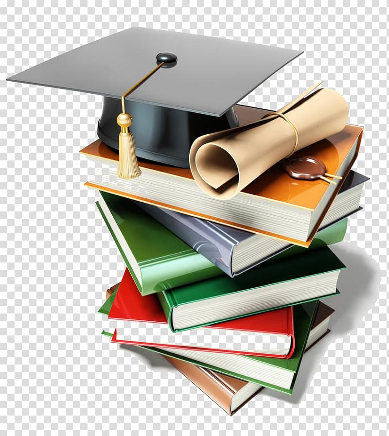 Books and mortarboard.