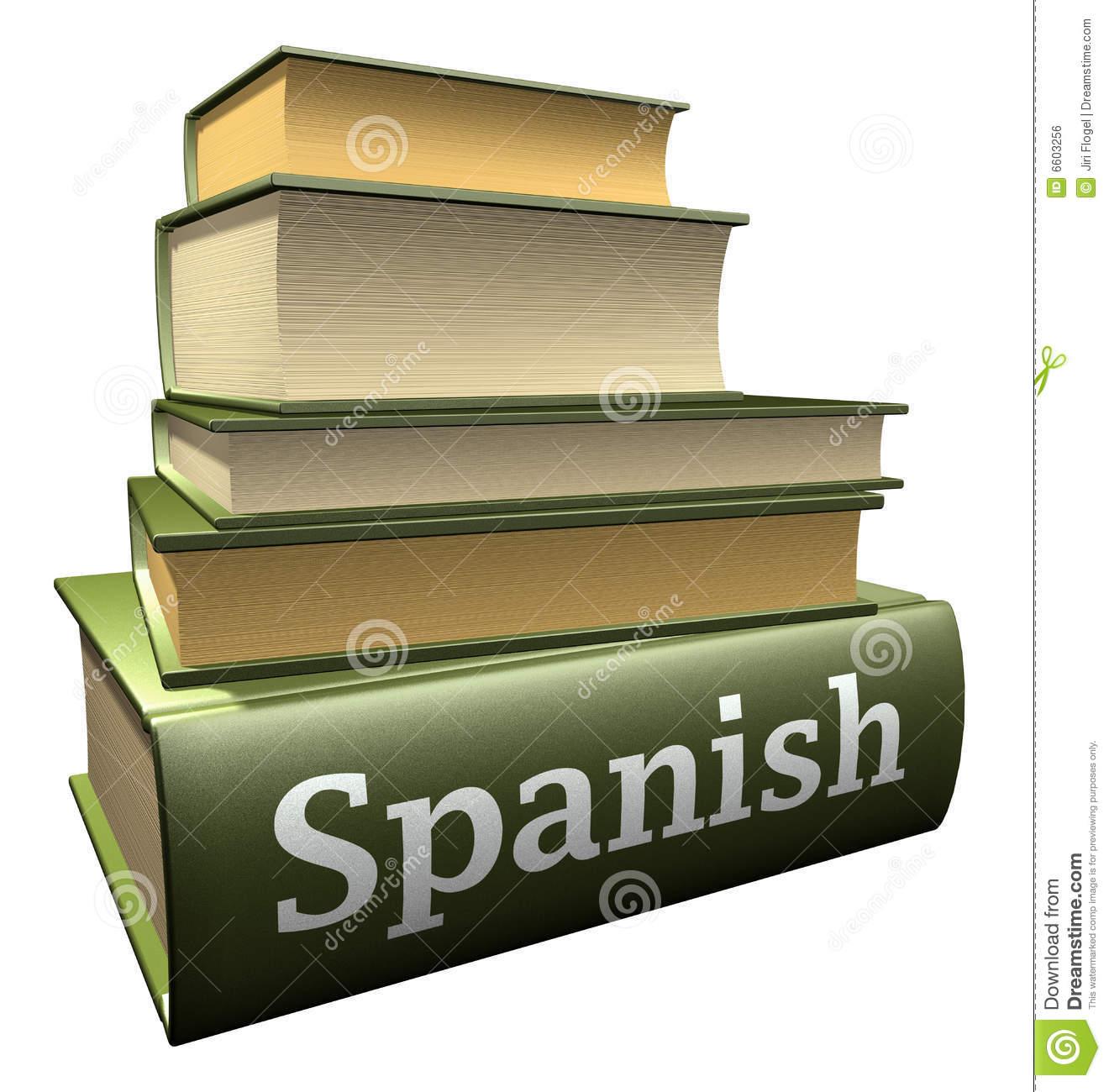 Spanish book clipart.