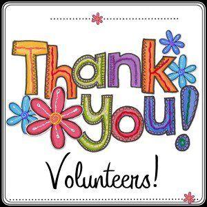 Thank you volunteers.