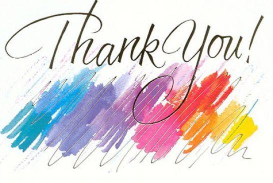 Animated thank you.