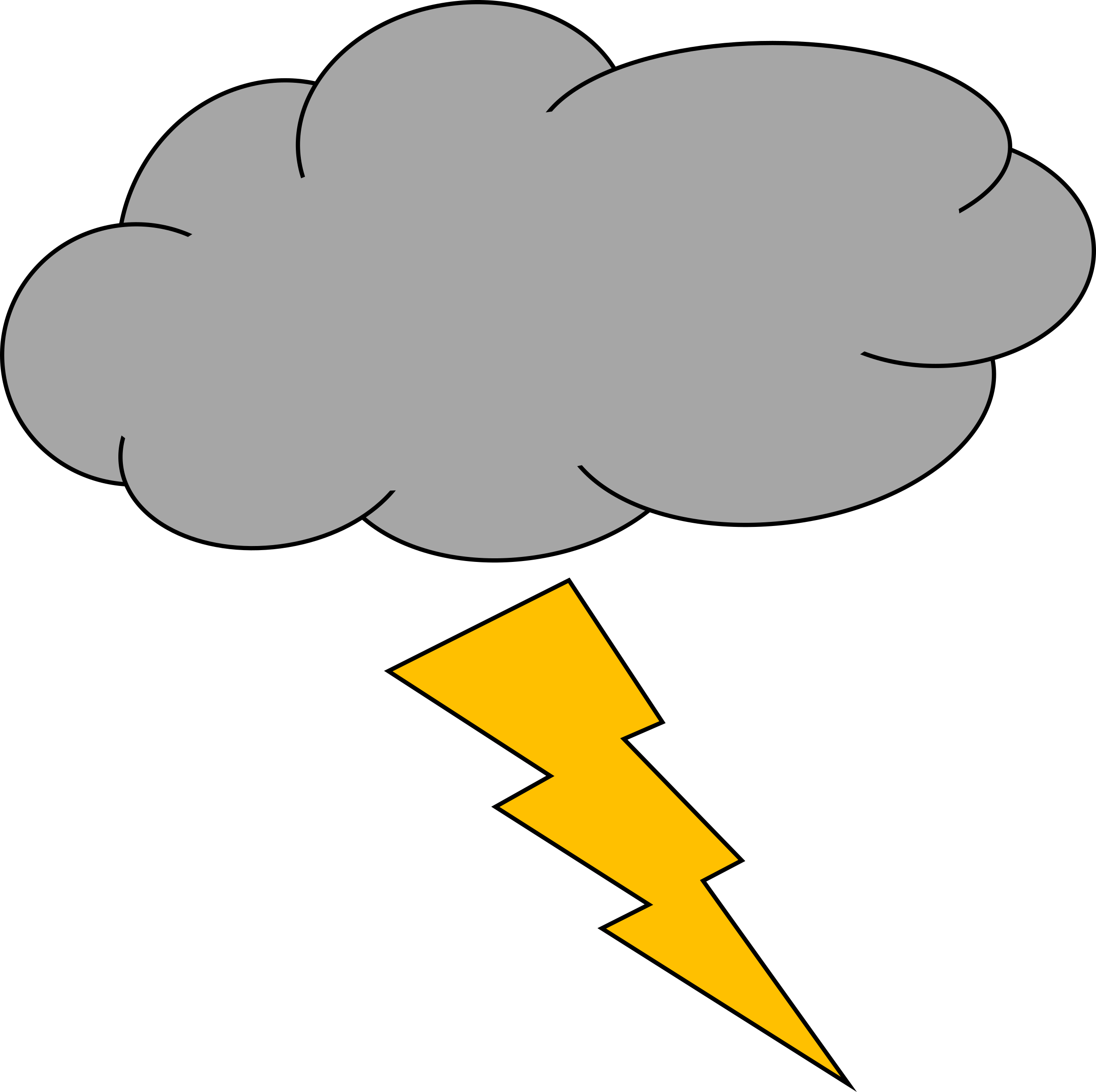 Thunder and lightning clipart