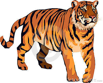 Angry tiger clipart.
