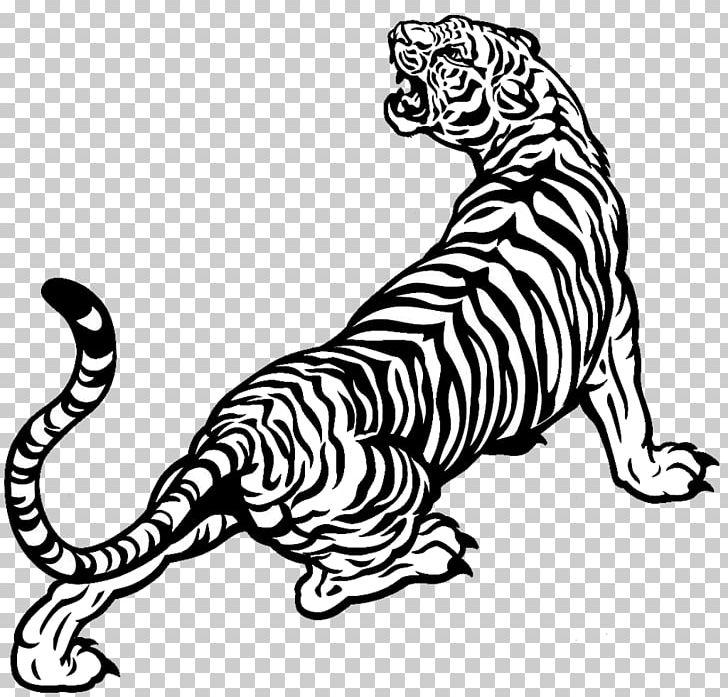 White tiger drawing.