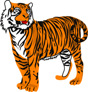 Animated tiger clipart.