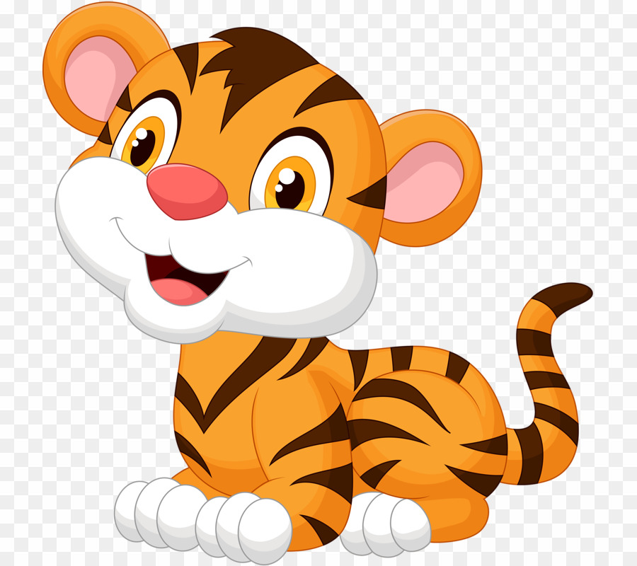 Tiger cartoon png.