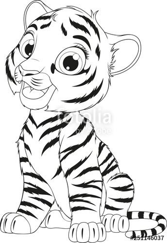 Tiger clipart black and white cub pictures on Cliparts Pub ...