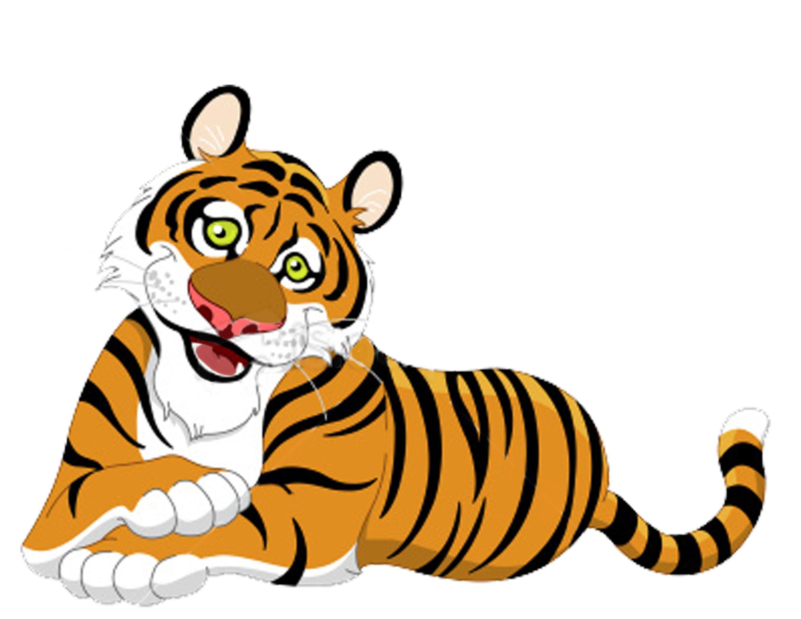 Tiger clipart book.