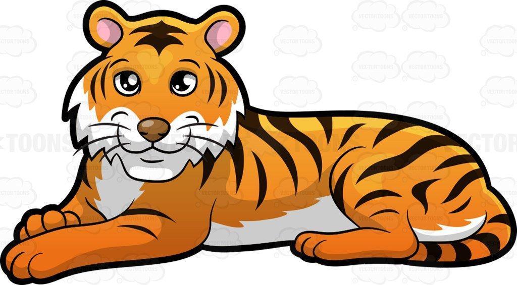 Cartoon tiger clipart.