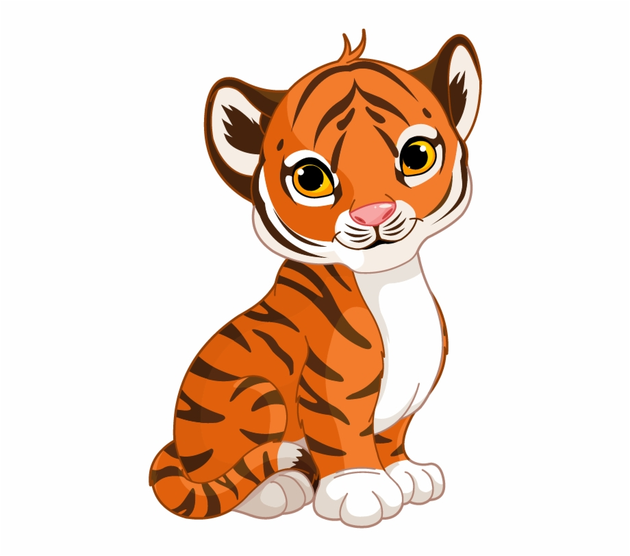 Cute cartoon tiger.