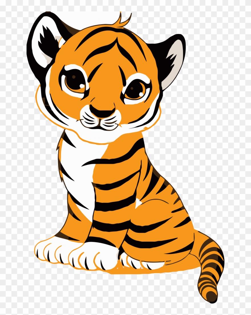 Tiger face clip.