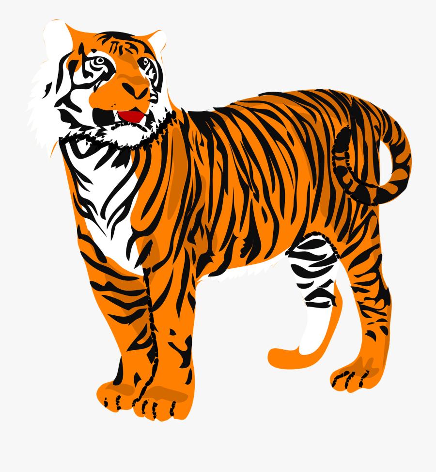 Tiger kids cliparts.