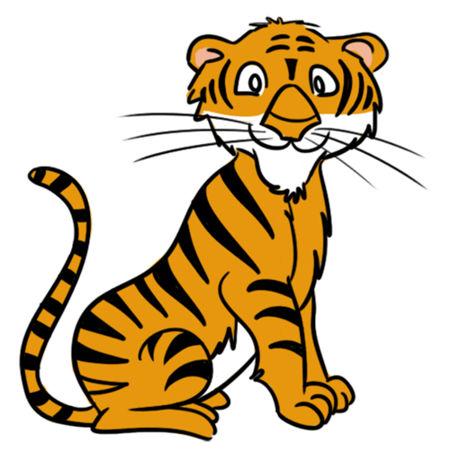 Tiger clipart kid.