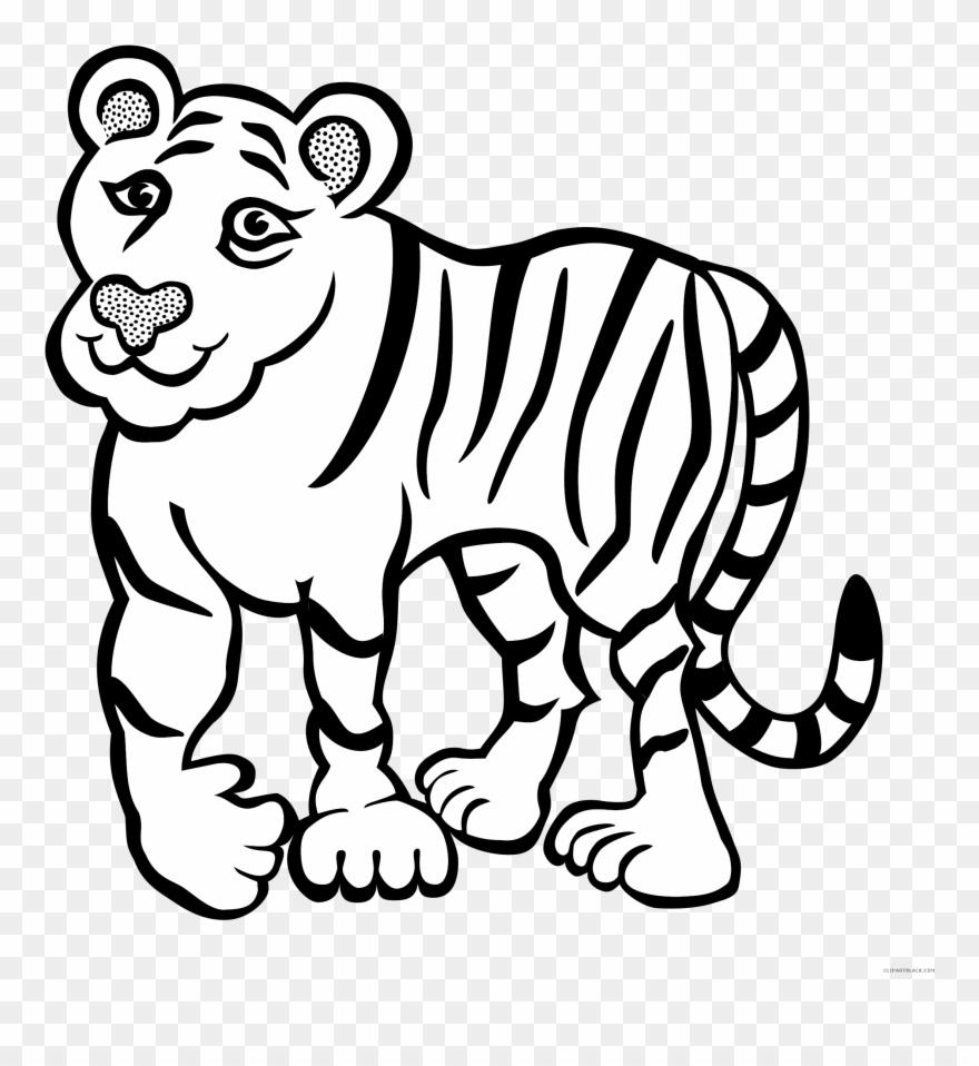Tiger outline animal.