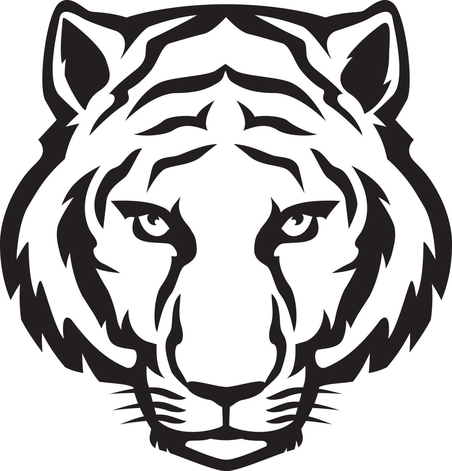 Tiger head outline.
