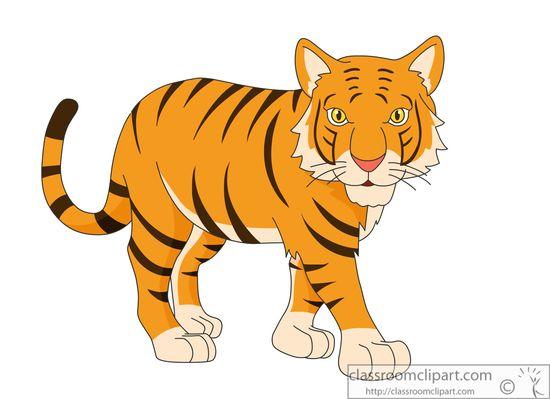 Tiger transparent clipart.