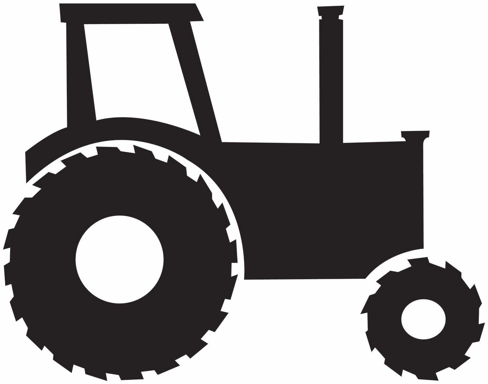 Tractor and farm background clipart image