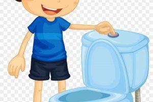 Flush toilet clipart