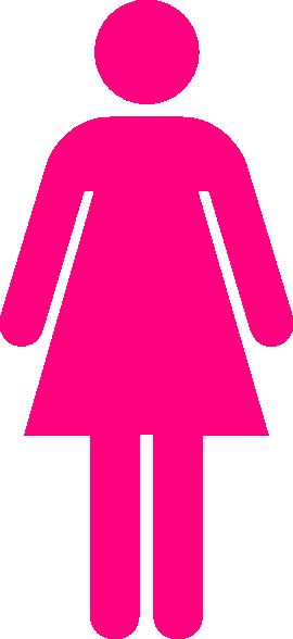 Women Toilet Symbol Pink Clip Art at Clker