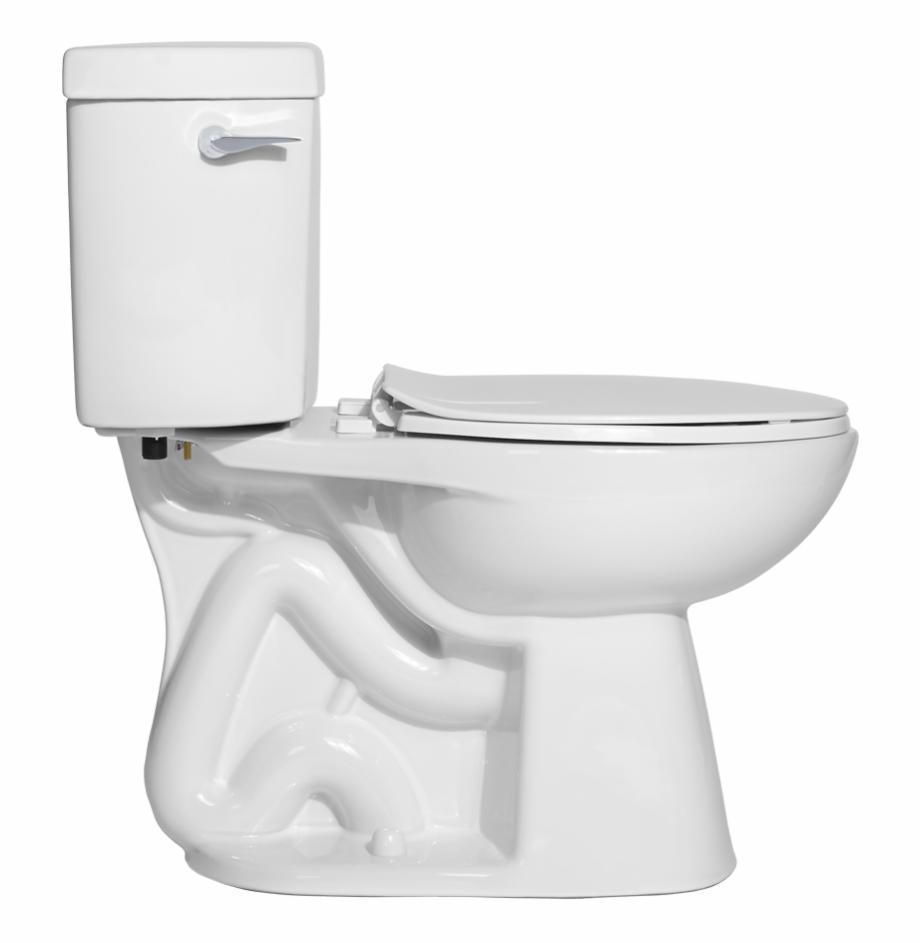 Western toilet side.