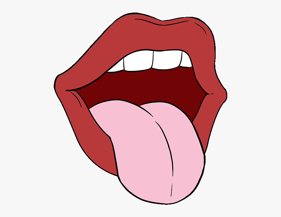 Tongue clipart cartoon. How to draw a