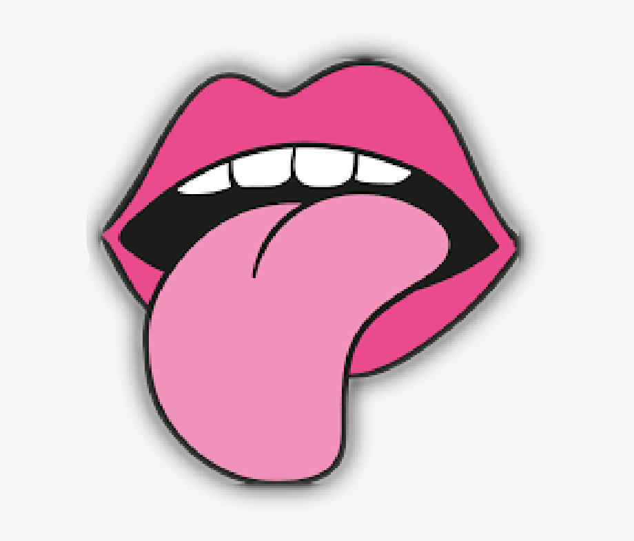 Tongue clipart cartoon. Cute png boca y
