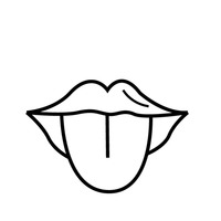 tongue clipart black