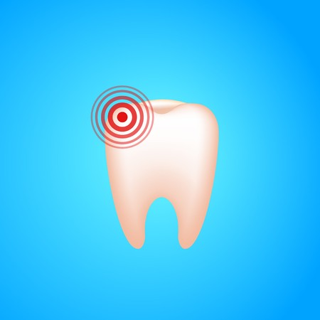 Toothache tooth with.