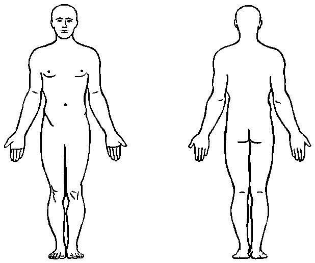 body outline clipart male