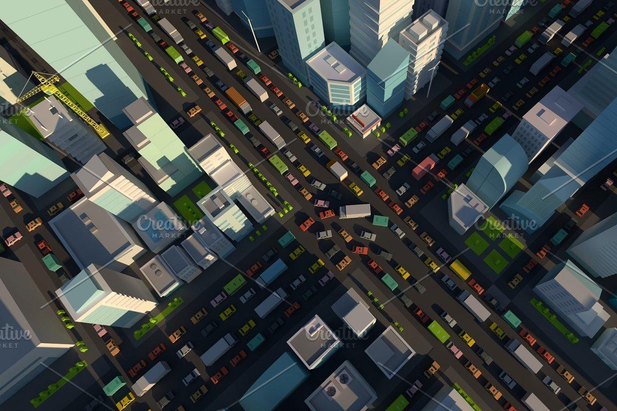 City street intersection.