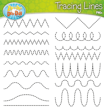 Tracing lines clipart.