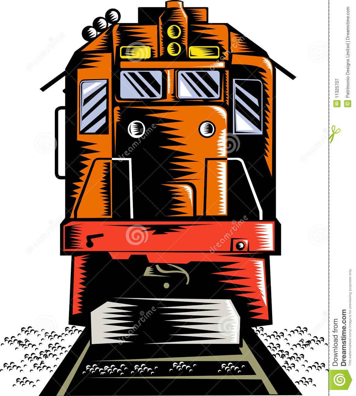 Front train engine.