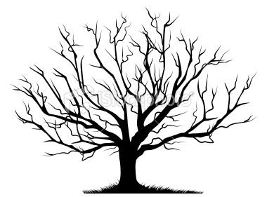 Tree black and.
